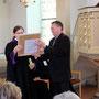 Hagen Strieb spricht für den Kirchenvorstand Grebendorf