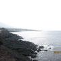 赤禿突端より、大島の南側をの望む。