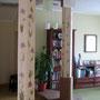 Роспись колонн в кабинете.