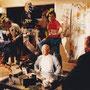 Extralarge 1993 - sul set con Pat Morita