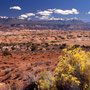 Blick auf die la Sal Mountains. Arches Nationalpark/Utah.