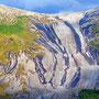 Die unglaubliche Granitplatte am gegenüber gelegenen Kugelhornet bietet Mountainbikern eine einmalige Downhillstrecke