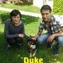 16 aprile 2016 - Duke (ex Pino) è stato adottato: eccolo felice con i suoi genitori!!! buona vita pelosetto dolce...