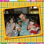 agosto 2013 - Sonny, ora Billy, è stato adottato a Genzano. Eccolo insieme a papà Gabriele e ai 2 fratellini umani. Mamma Eva ha fatto la foto. Sei stato fortunato pelosetto!!!