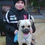 febbraio 2014 - Rex adottato!!! Eccolo insieme al suo amichetto umano...