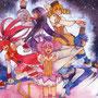 魔法少女達  魔法少女まどかマギカ 動画用に作成  透明水彩 8号