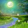 あえか  夏の夜が明ける頃 葉には雫がついていて 多くの人は その瞬間には眠っているので 見る機会が少ないそうです。 露は人間が起きだす頃に 果敢なく消えてしまいます。 そんなかよわく、はかない事を あえかのものと言うそうです。