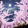 朧ーおぼろー  朧とは、かすかではっきり しないこと。 ほのかに霞んだ 光の薄い春の月を 朧月と言います。 春爛漫に咲き誇る 桜の花々と 優しい銀色の光は 涙でいっそう霞んで見えた。