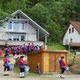 Für einen gelungenen Abschluss des Gartenfestes sorgte der Fanfarenzug, der uns ganz überraschend besuchte.