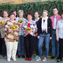 Unsere Jubliare. v. li. n. re.: Janett Barth, Renate Sattler, Maria Weller, Ingeborg Maier, Gertrud Locher, Irmgart Lubetzke, Franziska Beck, Larissa Zisterer, Kai Guttmann, Aurelia Leibinger