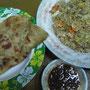 Roti & gebratener Reis.