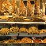 Bacalhau (Stockfisch) ist sehr beliebt. Salzig und daher lange haltbar wird er fast an jedem Stand angeboten.