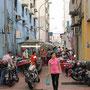 Essensstände im Kampong Ah Fook Viertel.