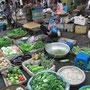 Gemüsestand auf dem Markt.