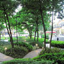 Garten des Shopping-Malls Ayala Center.