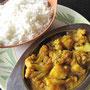 Allo Gobi & Reis. Unser erstes Essen in Hampi blieb weit hinter unseren Erwartungen.
