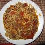 Spaghetti Schinken-Bolognese auf khmer.