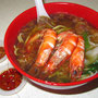 Prawn Mee - Garnelen-Nudeln-Suppe.