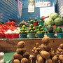 Gemüseverkauf mit Stil.