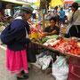Auf dem Frischluftmarkt von Gualaceo.