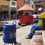 Eisverkäufer in der Innenstadt Pastos.