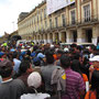 Kundgebung am Plaza Bolivar.