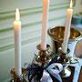 Decoration mariage bleu marine et blanc
