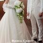 白紫陽花とカラーのキャスケードブーケ(S様より)