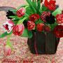 春の赤い花を集めて♡アムールの花贈り