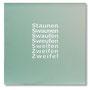 Legende zum Staunen, 40 x 40 x 0,6 cm, Sandgestrahlter Spiegel, 2014
