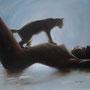Catwoman Öl auf Leinwand 50 x 70 cm