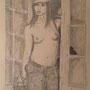 Jersey Girl - Bleistift auf Papier  - 40 x 30 cm