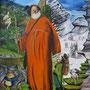 der Pilger zwischen den Welten - Öl auf Leinwand - 120 x 100 cm