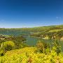 Lagoa Verde und Lagoa Azul im Krater von Sete Cidades