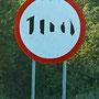 Erlaubte Geschwindigkeit 100