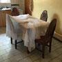 ... beim Trocknen über dem Küchentisch ...