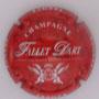 Marque : FALLET - DART N° Lambert : 19c Couleur : Rouge, écriture blanche Description : Armoiries au-dessous du nom du producteur  Emplacement :