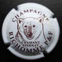 Marque : RICHOMME P & F N° Lambert : 10 Couleur : Blanc et marron Description : Tête d'ours et nom de la marque  Emplacement :