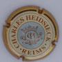 Marque : HEIDSIECK Charles N° Lambert : 54 Couleur : Centre bleu clair - contour or Description : Initiales dans armoiries  Emplacement :