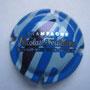 Marque : FEUILLATTE Nicolas N° Lambert : 29 Couleur : fond bleu hachuré Description : Nom du producteur au centre Emplacement : 052-06-04