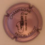 Marque : FRICOT Pascal N° Lambert : 11 Couleur : Rosé-violacé et noir Description : Saxophone  Jazz Marciac 2009 - nom de la marque  Emplacement :