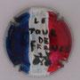 Marque : SV - CAPSULES N° Lambert : NR1 Couleur : Bleu, blanc, rouge Description : Drapeau français et inscription le tour de France   Emplacement :