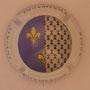 Marque : SERGENT Roger N° Lambert : 1.1 Couleur : Polychrome, contour blanc Description : Armoiries Anne de Bretagne - Nom de la marque  Emplacement :