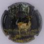 Marque : STRAUSS - GEORGETON N° Lambert : 5 Couleur : Polychrome Description : Cerf de face - nom de la marque sur le pourtour Emplacement :