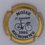 Marque : RICHOMME M N° Lambert : 1-4 Couleur : Contour or Description : 2ème souvenir Moïse RichoNNe 1999 - Nom de la marque   Emplacement :