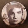 Marque : FAY Michel N° Lambert : 16b - 7 Couleur : Polychrome Description : portrait d'Elvis Presley 7/9  Emplacement :