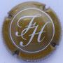 Marque : HUBERT François N° Lambert : 1 Couleur : Bistre et blanc Description : Initiales HF dans un cercle - Nom de la marque sur le pourtour  Emplacement :