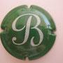 Marque : BARANCOURT N° Lambert : 5 Couleur : Vert et blanc Description : lettre B stylisée blanche  Emplacement :