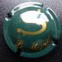 Marque :  SALON N∞ Lambert : 4 Couleur :  Vert et Or Description : Grande lettre S stylisé Emplacement :