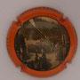 Marque : SIX COTEAUX (Coopérative des) N° Lambert : 6 Couleur : Fond gris, contour orange Description : cour de ferme - nom de la marque  Emplacement :